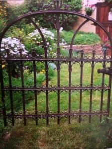 A rustic gate.