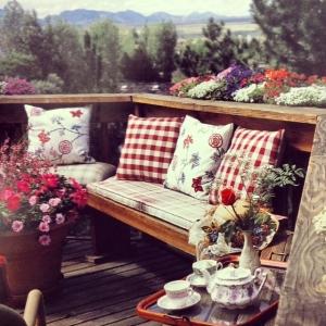 A peaceful spot to enjoy a cup of tea.